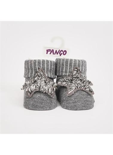 Panço PanÇo 2022BB11009 Yıldız Nakışlı Erkek Bebek Tekli Çorap Gri